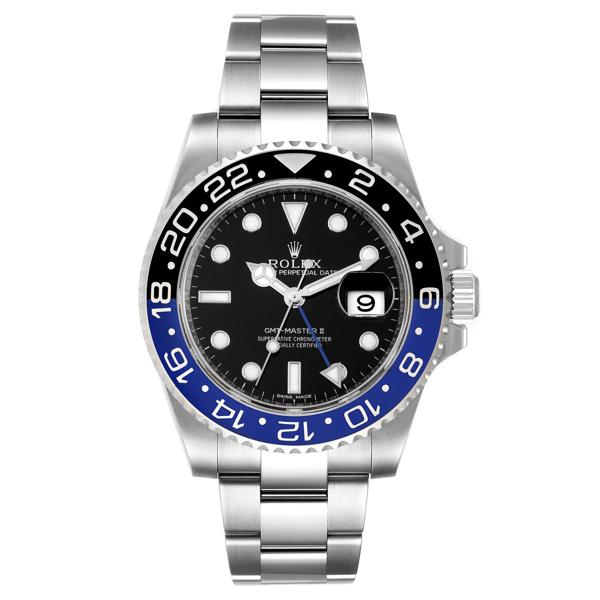 Rolex Gmt Master Ii Batman Blue Black Bezel Steel Watch 116710 Unworn In Not Applicable