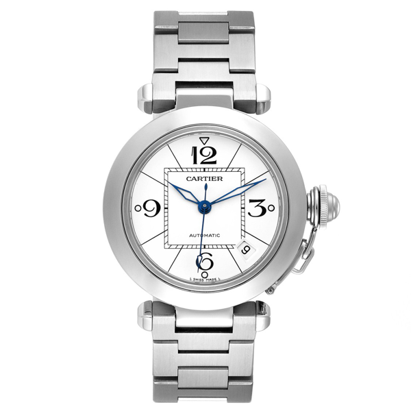 Cartier Pasha C 35 White Dial Stainless Steel Unisex Watch W31074m7 In Not Applicable
