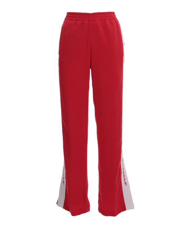 Ermanno Scervino Red Polyester Pants