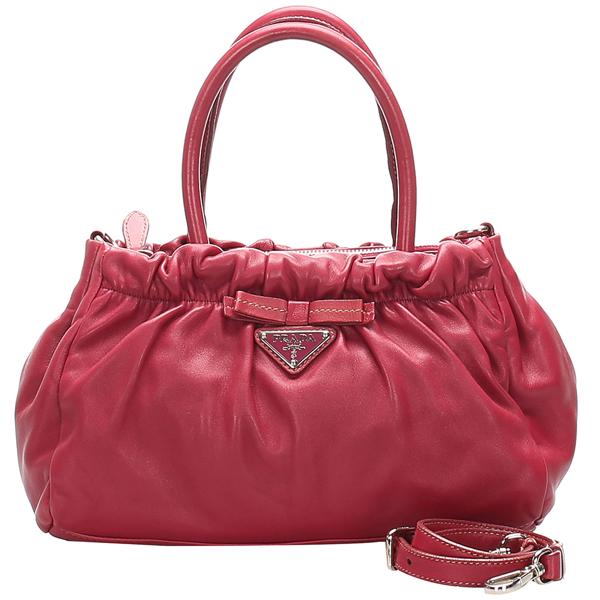 Prada Pink Leather Satchel Bag