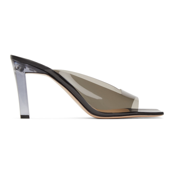 Wandler Isa Leather And Pvc Sandals In 3235 Shadow