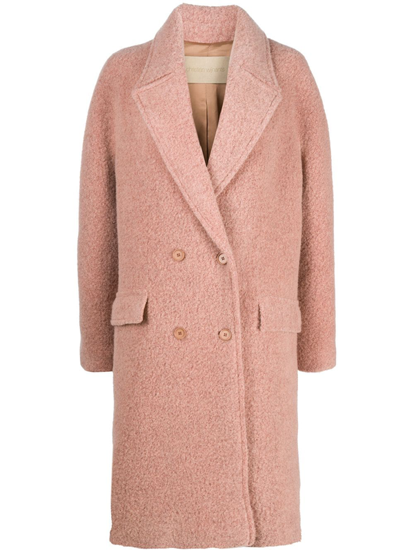 Christian Wijnants Chaman Double-breasted Coat In Pink
