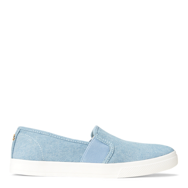 Lauren Ralph Lauren Jinny Chambray Sneaker In Blue