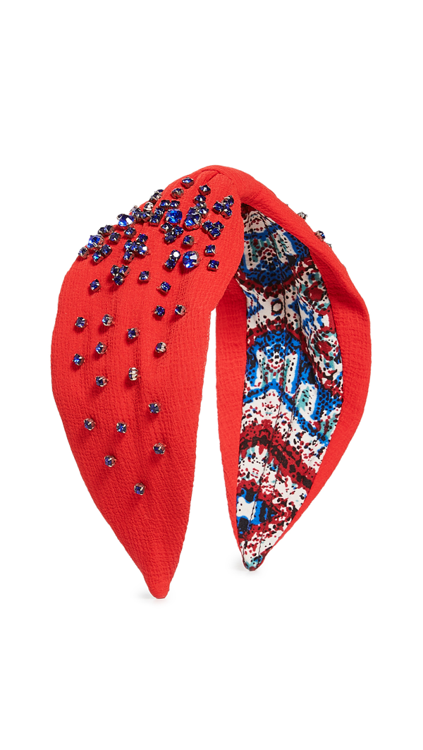 Namjosh Crystal Embellished Headband In Red