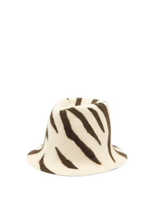 Reinhard Plank Hats Zebra-print Felt Hat In Animal Print