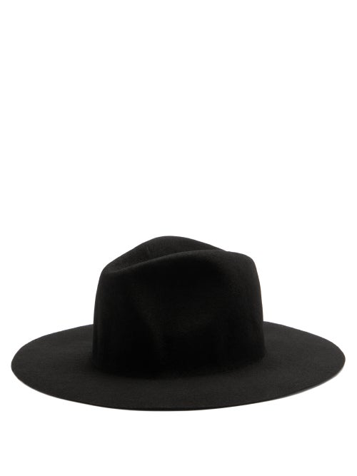 Reinhard Plank Hats Norma Wool-felt Fedora Hat In Black