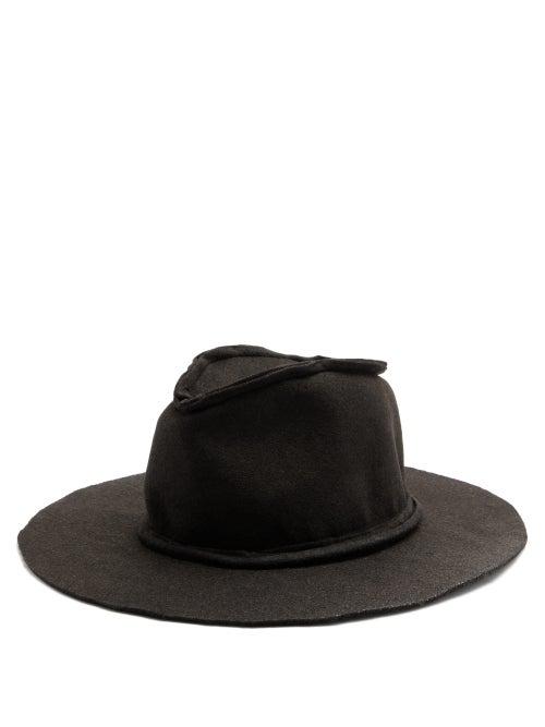 Reinhard Plank Hats Beghe Exposed-seam Felt Hat In Black