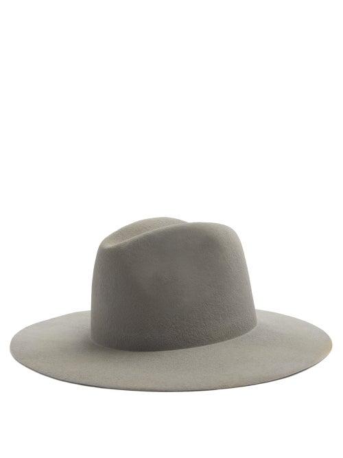 Reinhard Plank Hats Norma Wool-felt Fedora Hat In Grey