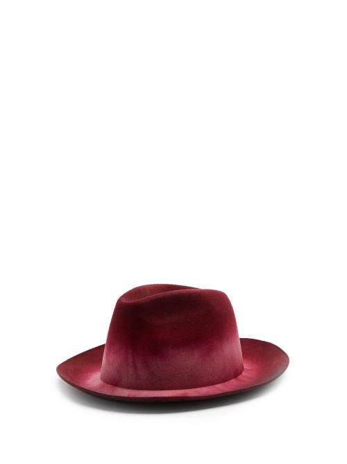 Reinhard Plank Hats Elia Wool-felt Trilby Hat In Pink