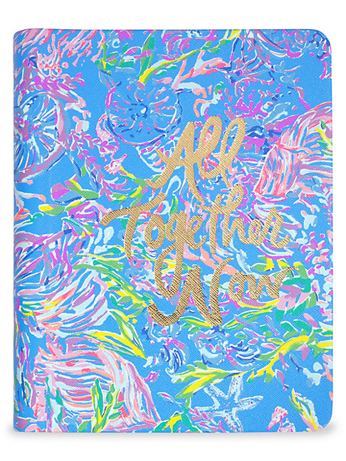 Lilly Pulitzer All Together Now Concealed Spiral Journal In Blue Multi