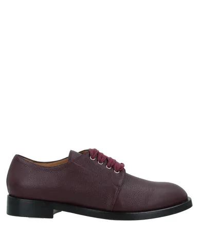 Pomme D'or Laced Shoes In Burgundy