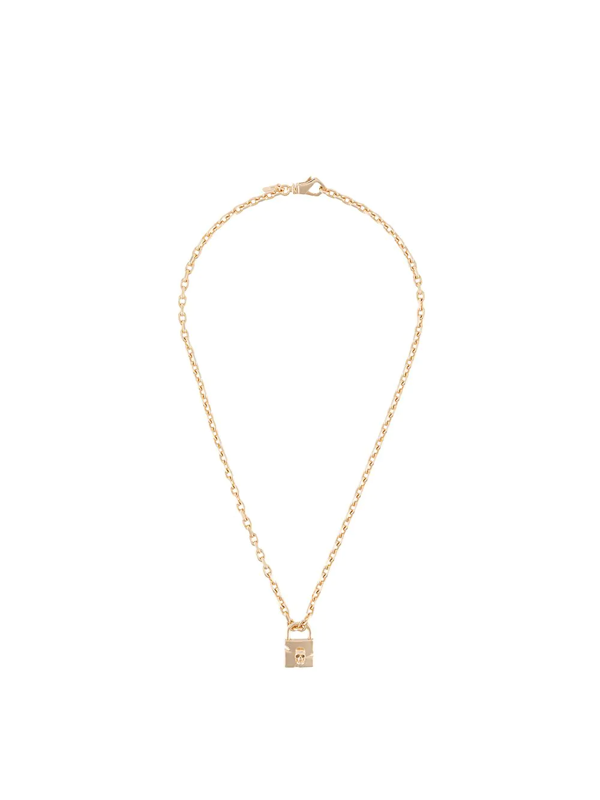 Emanuele Bicocchi Skull-padlock Charm Necklace In Gold
