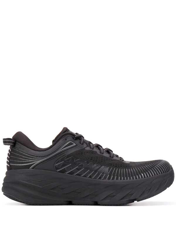 Hoka One One Low-top Chunky Sneakers In 黑色