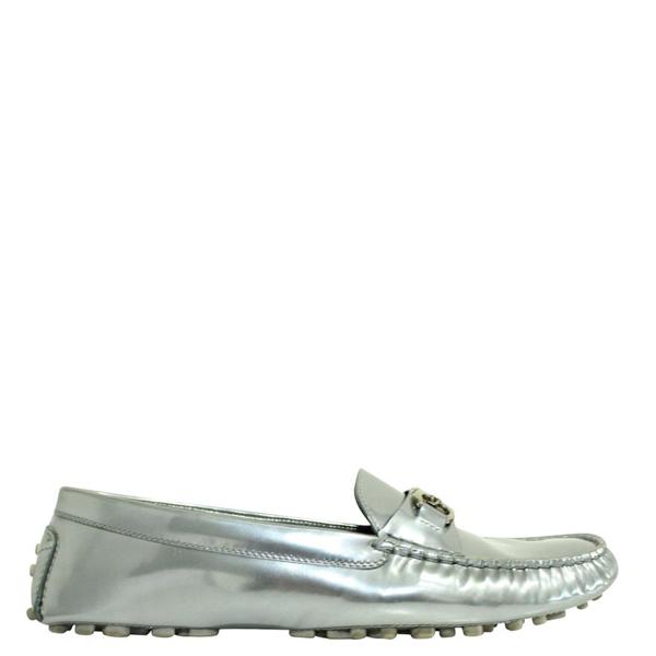 Salvatore Ferragamo Silver Leather Loafers