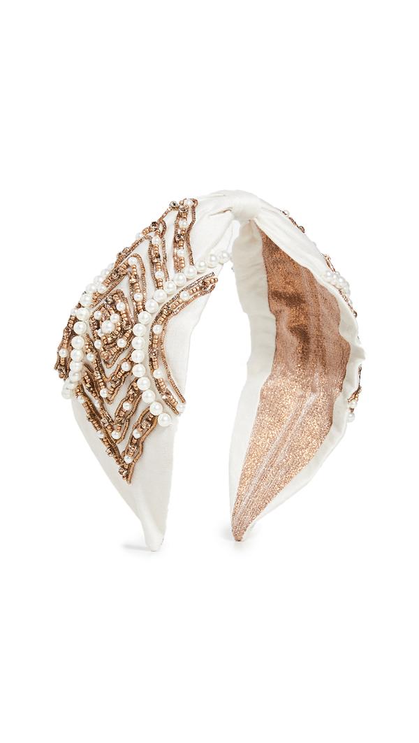 Namjosh Ivory/pearls Headband