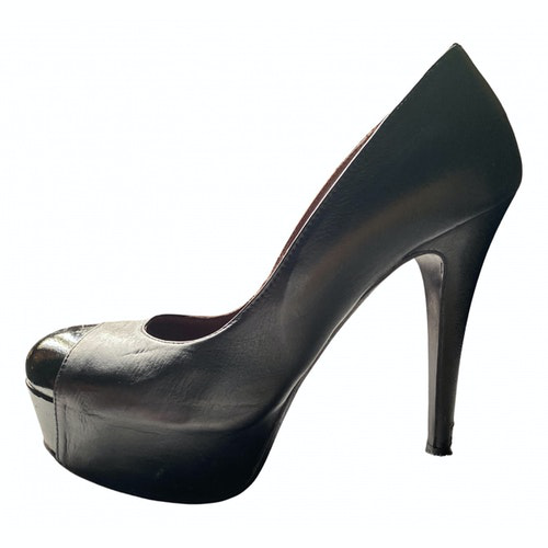 Fiorifrancesi Black Leather Heels