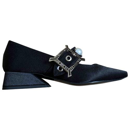 Yuul Yie Black Cloth Heels
