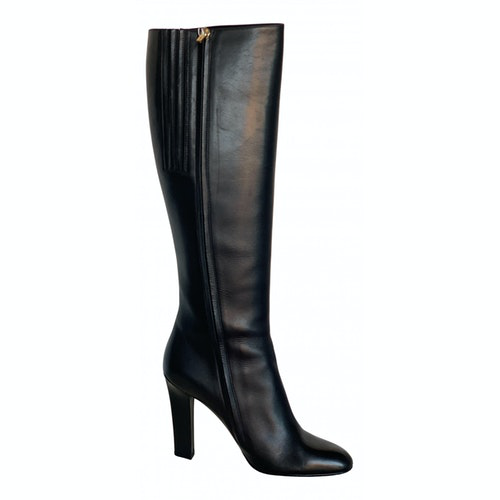 Salvatore Ferragamo Black Leather Boots