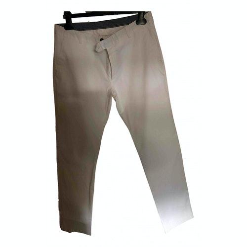 Tonello White Cotton Trousers
