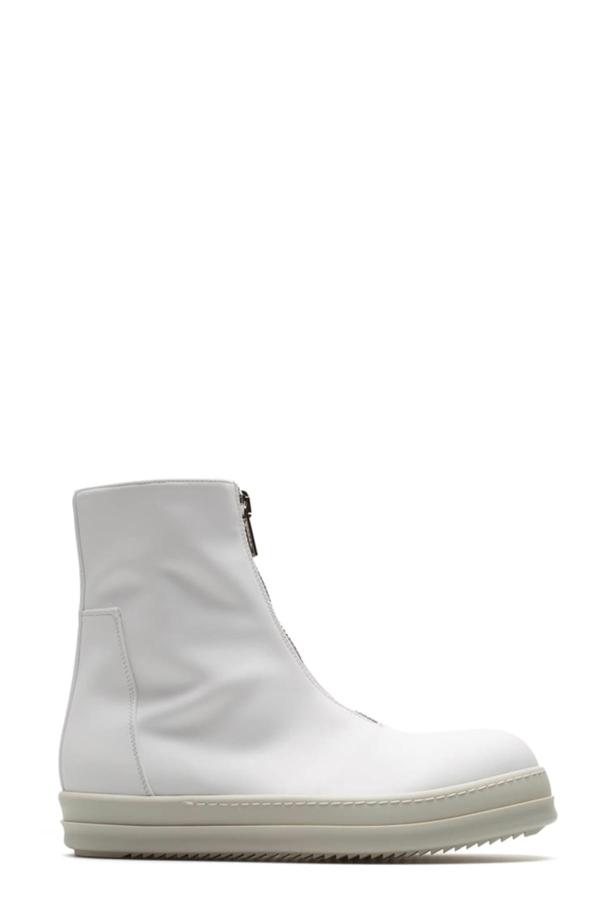 Drkshdw Zipfront Sneakers In Bianco/bianco