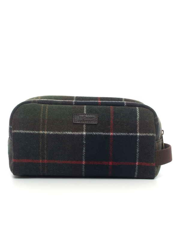 Barbour Small Clutch Green Wool Man