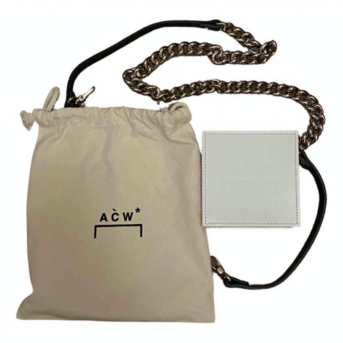 A-cold-wall* White Leather Small Bag, Wallet & Cases