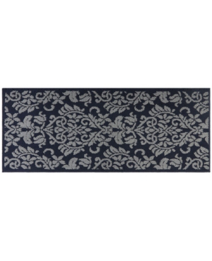 Nicole Miller Rosewood Ellie 4a-olrw02-382 Navy And Gray 2'x4'11 Runner Rug