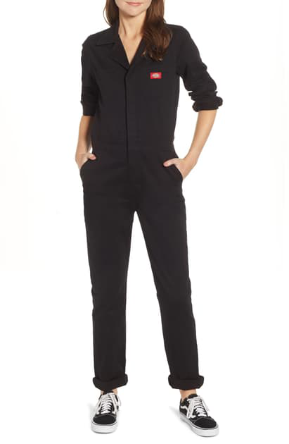 Dickies Twill Coveralls In Black
