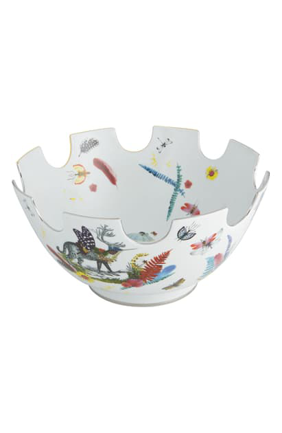 Christian Lacroix Caribe Serving Bowl In White