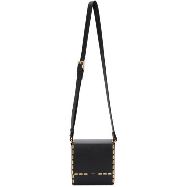 Sacai Black Box Leather Shoulder Bag