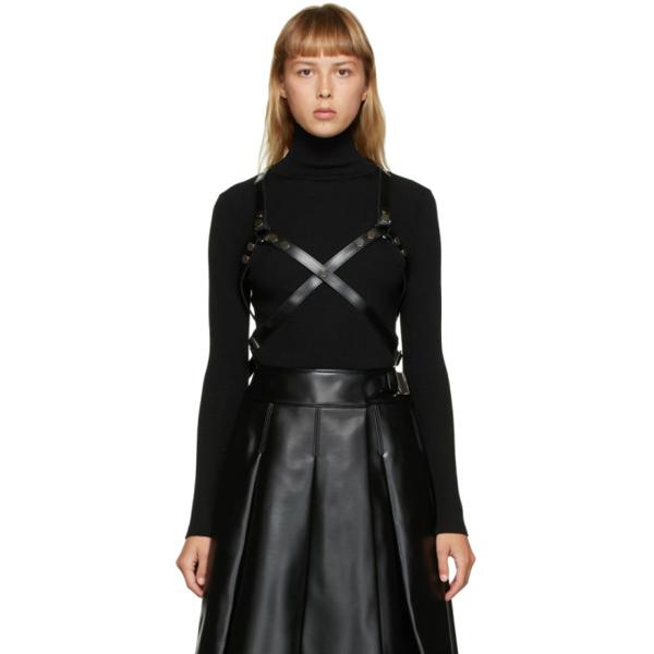 Junya Watanabe Black Leather Harness In 1 Black