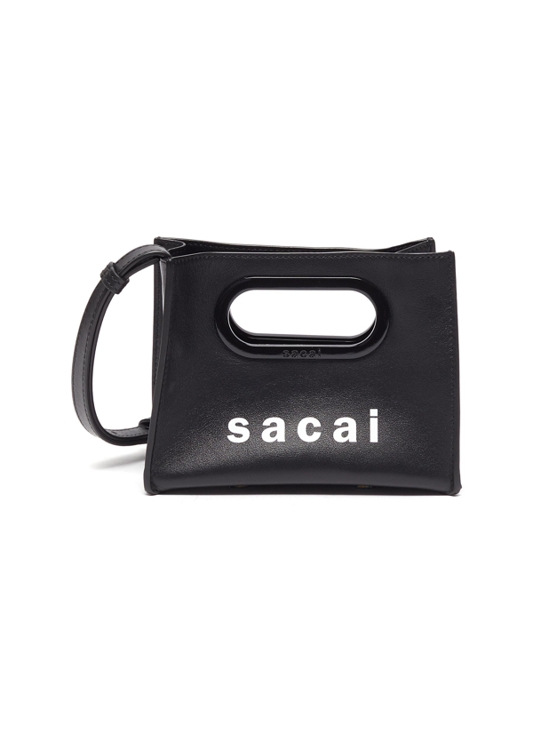 Sacai Logo Print Micro New Shopping Bag