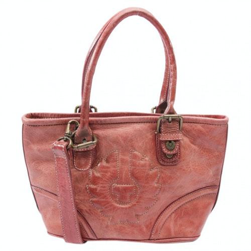 Belstaff Red Leather Handbag
