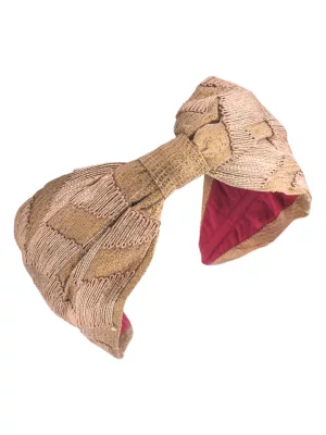 Namjosh Embroidered Two-tone Headband In Bronze