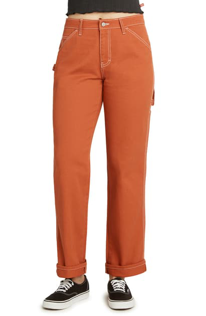 Dickies Relaxed Fit Carpenter Pants In Auburn