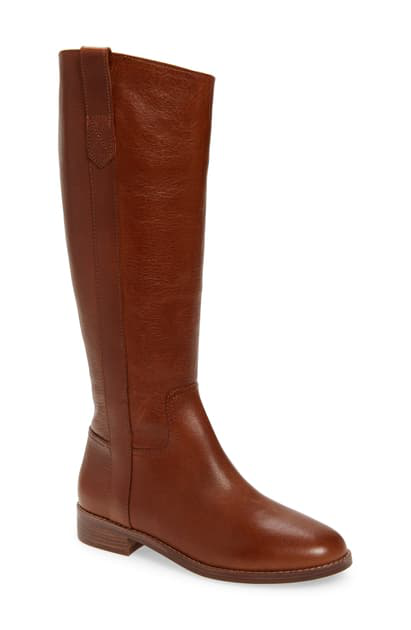 Madewell The Winslow Knee High Boot In English Saddle