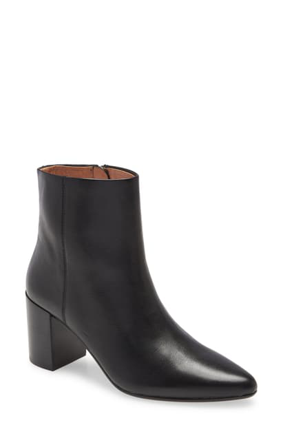 Madewell The Fiona Bootie In Toffee Multi Calf Hair