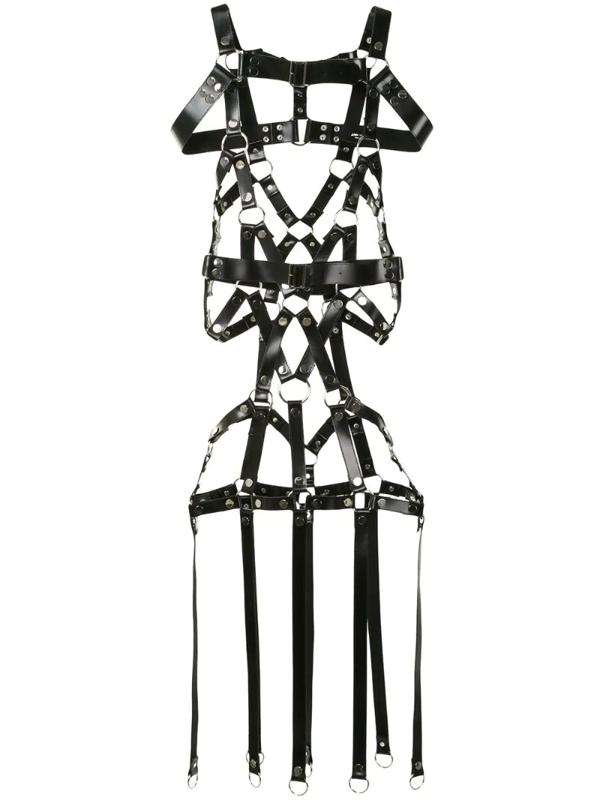 Junya Watanabe Buckle Wrap-over Belt In Black