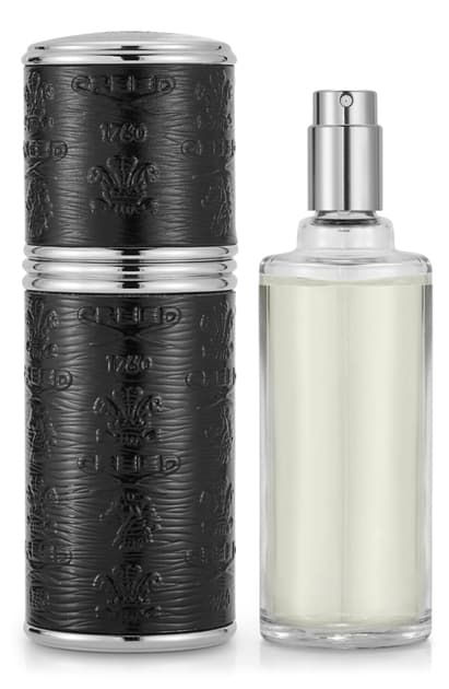 Creed Prefilled Deluxe Silver And Black Leather Atomizer (usd $550 Value) In Millesime Imperial