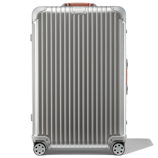 Rimowa Original Original Check-in L Suitcase In Silver And Brown - Aluminum - 31,2x20,1x10,7 Polished Alumi