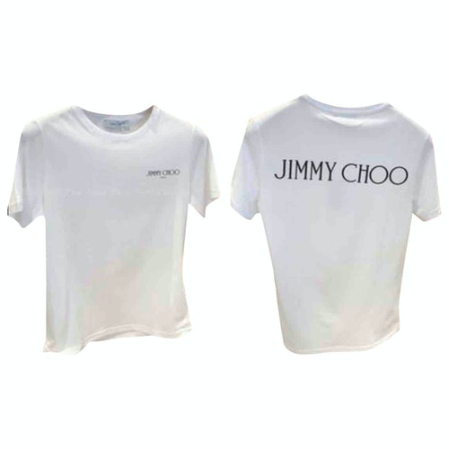 Jimmy Choo White Cotton  Top