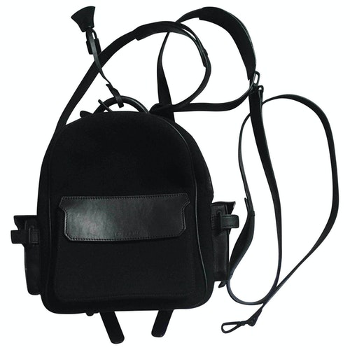 Buscemi Black Leather Backpack