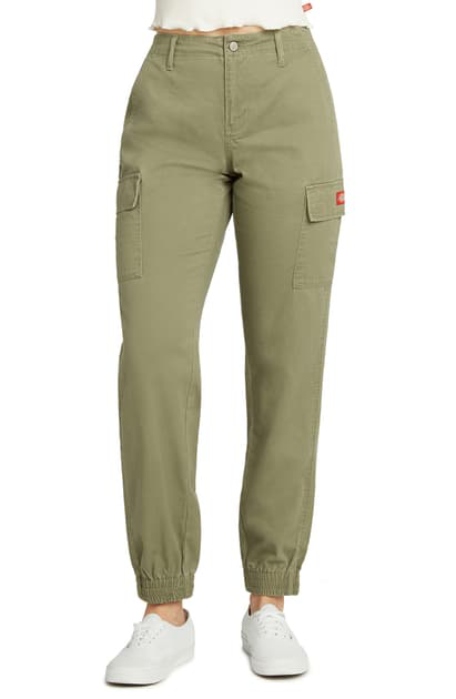 Dickies Twill Cargo Joggers In Olive