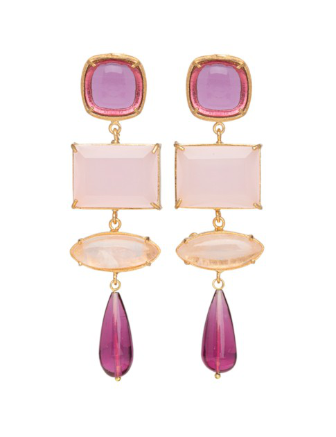 Christie Nicolaides Emiliana Earrings Pink