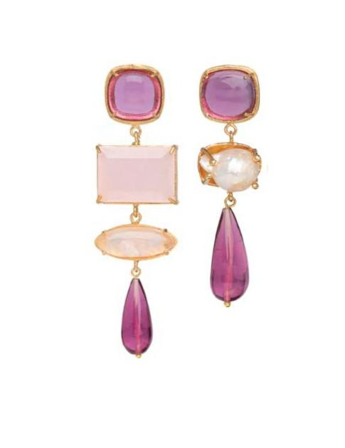 Christie Nicolaides Esmeralda Earrings Pink