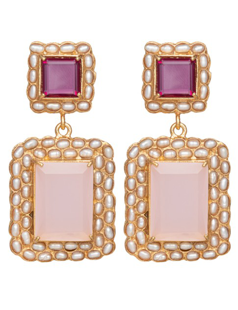 Christie Nicolaides Rosalina Earrings Rose & Pink