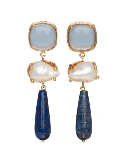 Christie Nicolaides Eva Earrings Blue
