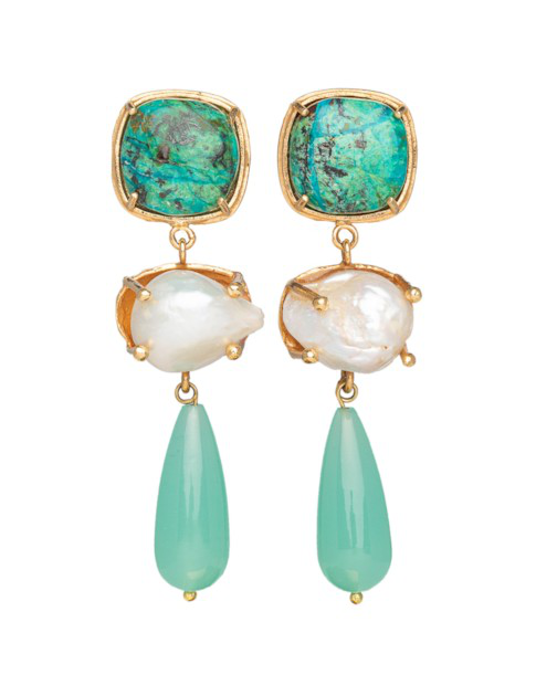 Christie Nicolaides Eva Earrings Turquoise In Green