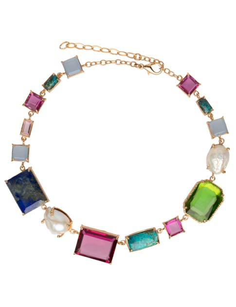 Christie Nicolaides Tabitha Necklace Gold & Multi In Multi Color