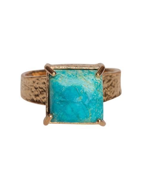 Christie Nicolaides Gaia Ring Turquoise In Blue